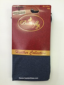 Butterfly Heather Microfiber Tights #1136