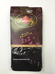 Butterfly-School Collection Microfiber Opaque Tights 40 Denier # 1132