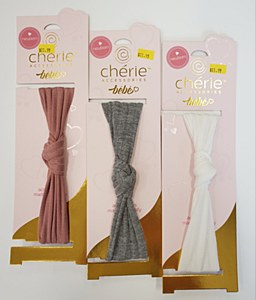 Cherie Knot Band-Newborn-Grey