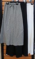 Crew Rib Long Skirt-Black-10-