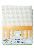Argyle Design Crib Sheet