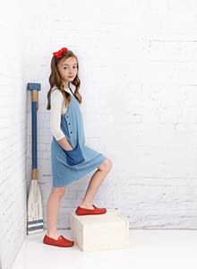 Girls Color Block Jumper-10--