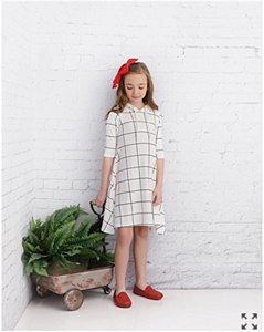 Girls' Grid Dress-4--