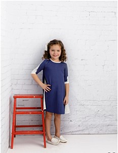 Girls Navy Sport Dress-16--