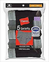 Hanes Boys Briefs 5 Pack Assorted Colors #B780P5