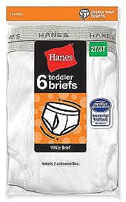 Hanes Toddler Boys Briefs 6 Pack #249TB