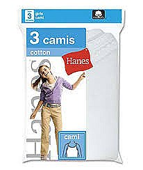 Hanes Girls Camis 3 Pack #GMCMWH