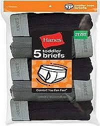 Hanes Toddler Boys Briefs 5 Pack Assorted Colors #TB90A5