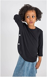 Kids Snappy Tee-Black-10-