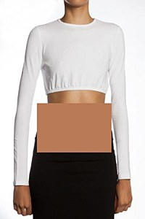 Kiki Riki Cotton Long Sleeve Cropped Shell #16140