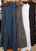 Long Tiered Cotton-Black-L-
