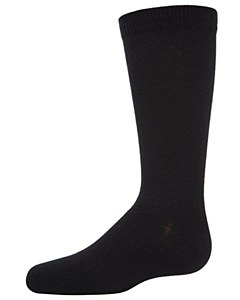Memoi 3/pk Flat socks-Black-10