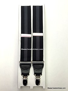 Mens Suspenders Blk/Grey