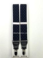 Mens Suspenders Dk Navy/Polka