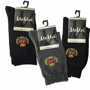 Memoi Boys Crest Dress Socks # MK-168