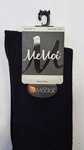 Memoi Model Cotton Basic Knee Socks # MK-5057