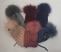 Pom Pom Hats-Blue-M-