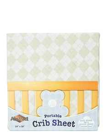 Argyle Design Portable Crib Sheet