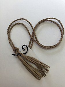 Rope Tassel Belt - Beige