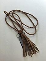 Rope Tassel Belt - Khaki
