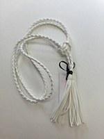 Rope Tassel Belt - White