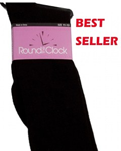 Round The Clock Flat Knit Knee Socks # C1019