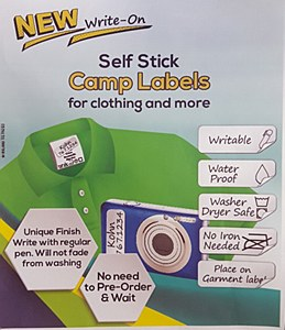 Self Stick Camp Labels