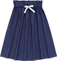 Teens Navy Denim Tie Skirt-14-