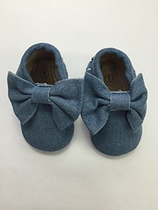 Denim Bow Moccosin