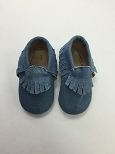 Denim Fringe Moccosin