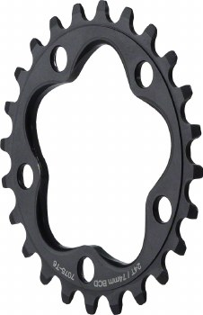 Dimension - 30t x 74mm Inner Chainring Black