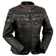 Ladies Crossover Skull Jacket