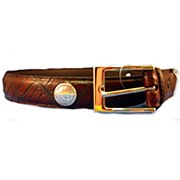 Leather Belt W-Nickle Br-