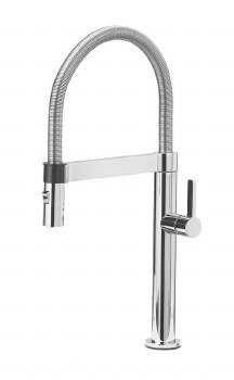 Blancoculina 2.2 Mini Semi-Pro Kitchen Faucet in Polished Chrome