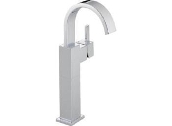Delta Vero Single Handle Centerset Lavatory Faucet with Riser - Less Pop-Up in Chrome