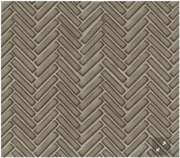 "90 Degree Herringbone Gray Haze Porcelain Mosaic on 11X12.25"" Sheet, DEC90GRH122MO"