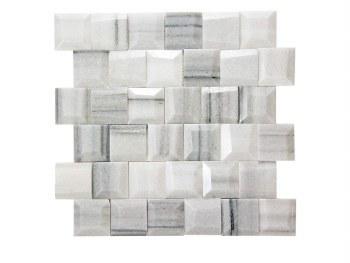 "Adamant Athens Grey Mosaic on 11.6X11.65"" Sheet"