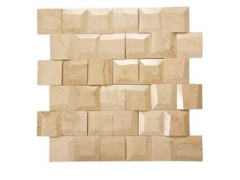 "Adamant Crema Marfil Mosaic on 11.6X11.65"" Sheet"