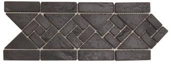 "Black Arrow Slate Border 4-3/4 X 12"", per piece"