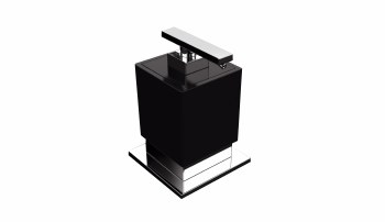 Be Counter Soap Dispenser in Polished Chrome with Black Accent