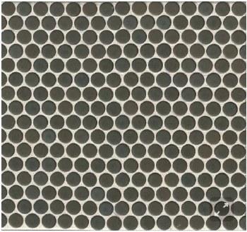 "360 Iron Matte Penny Round Mosaics 3/4"" on 12X12 Sheet, DEC360IRO34M"