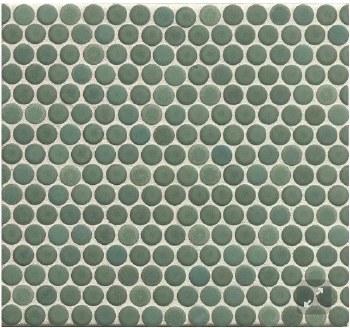 "360 Silver Sage Matte Penny Round Mosaics 3/4"" on 12X12 Sheet, DEC360SIS34M"