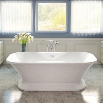 Aria Fortissimo Freestanding Tub White 70X35 With Chrome Drain & Overflow