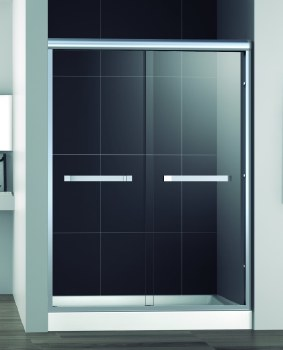 Sienna Shower Door 60X76 in Brushed Nickel
