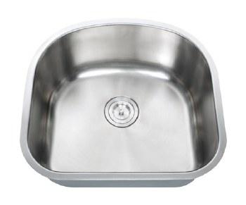 """Universe PEGASUS 18 Gauge 23-1/4"""" Undermount Single Bowl Kitchen Sink in Stainless"""