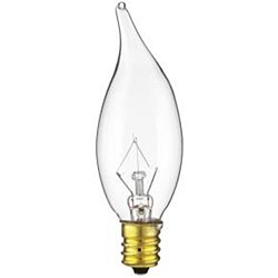 Petite Chandelier Flame Tip Clear Bulb 15CFC/25