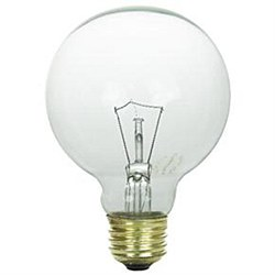 40 Watt G25 Globe Bulb, Medium Base, Clear