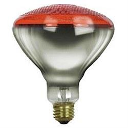 100 Watt BR38 Colored Reflector, Medium Base, Prismatic Red