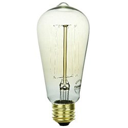 Sunlite 60 Watt Antique Edison Style S19, Medium Base, Smoke, 60S19/AQ/T/SM