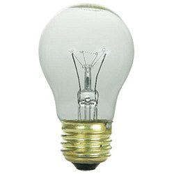Sunlite 40 Watt A15 Appliance, Medium Base, Clear, 40A15/CL/CD1